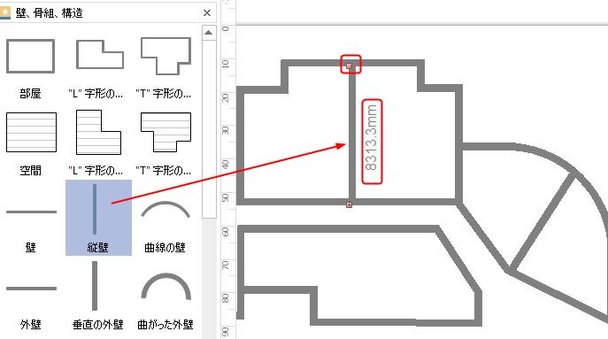 建築の間取り図を描く