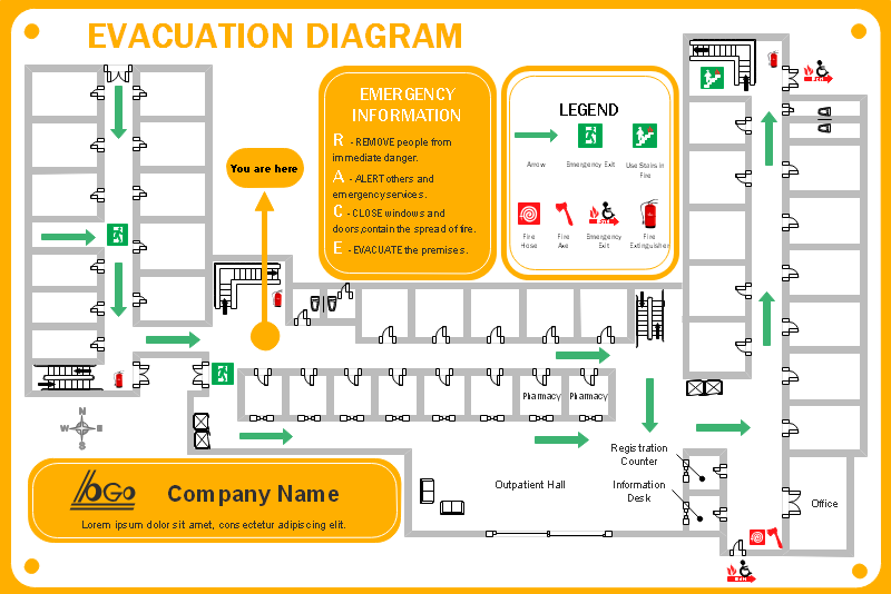 病院避難経路図