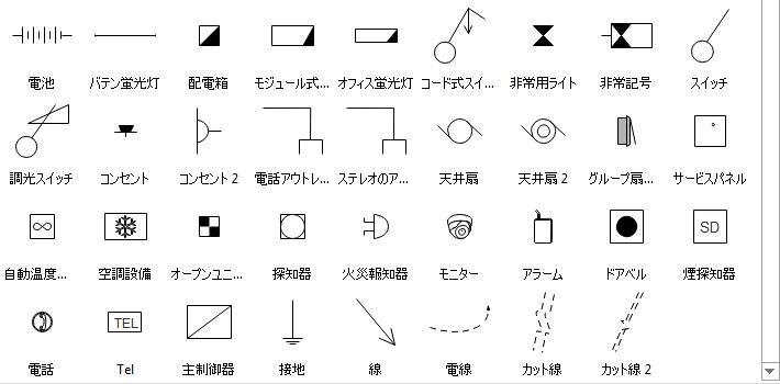 天井伏図記号