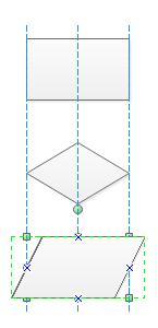 フローチャート図形自動配置