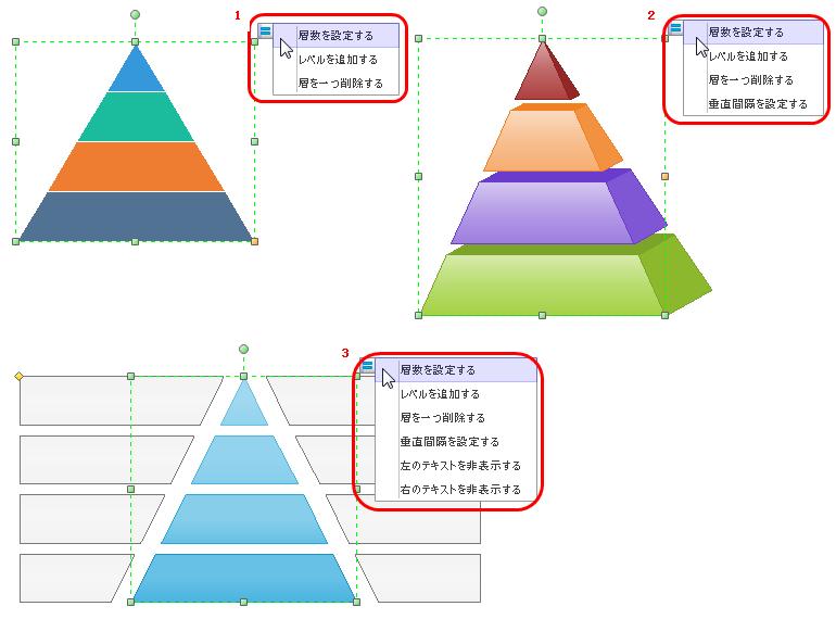 ピラミッド図をカスタマイズする