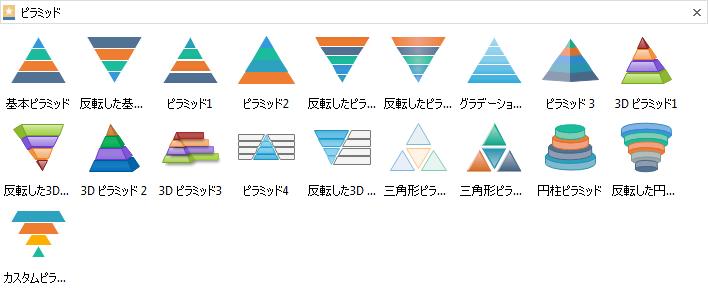 ピラミッド図素材