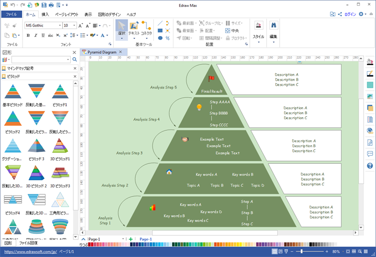 ピラミッド図作成ソフト