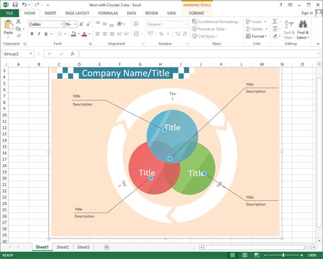 Excel ベン図テンプレート