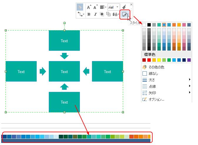 5F分析図形の色を変更
