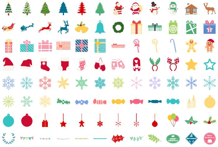 インフォグラフィッククリスマス素材