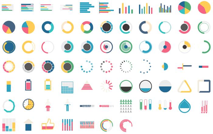 インフォグラフィックチャート素材