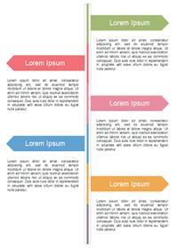 タイムラインインフォグラフィック 5