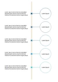 タイムラインインフォグラフィック 3