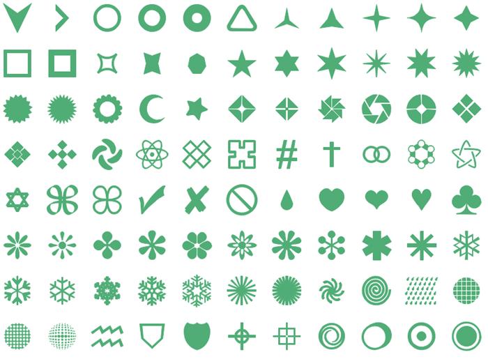 インフォグラフィックデザイン図形