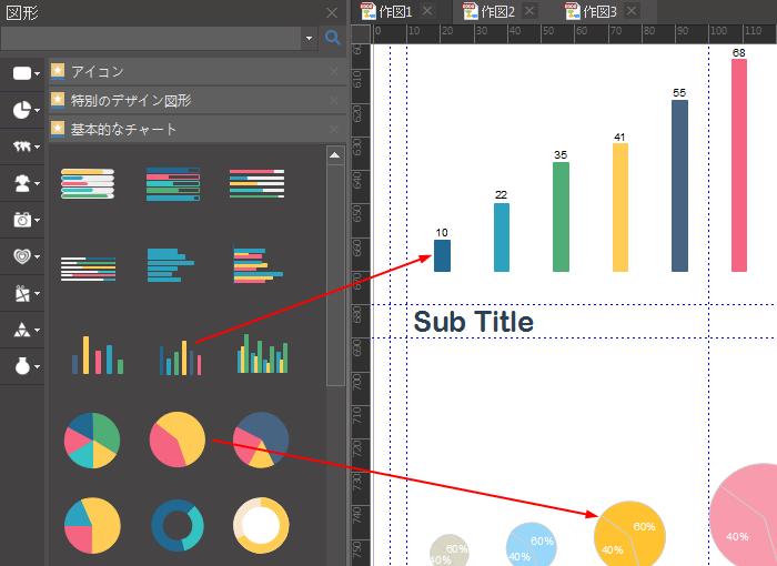 インフォグラフィックにチャートを挿入する