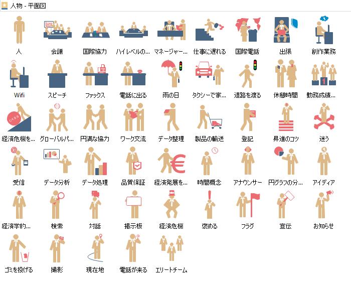 ビジネス人物 平面図形