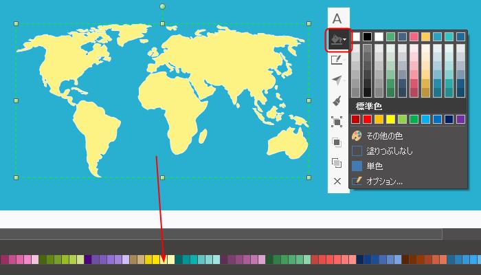 インフォグラフィック地図素材の色を変更する