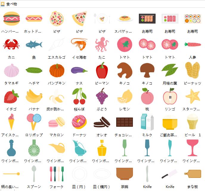 食べ物インフォグラフィック図形