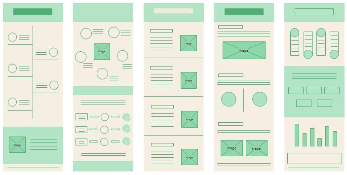 インフォグラフィックレイアウトのデザイン