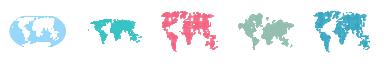 インフォグラフィック 世界地図素材