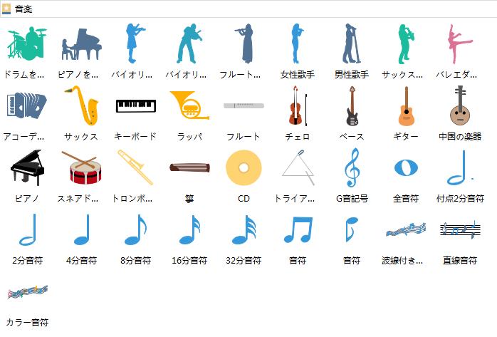 音楽 インフォグラフィック図形