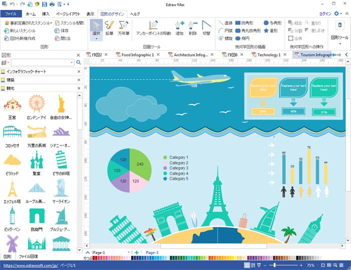 観光インフォグラフィック作成ソフト