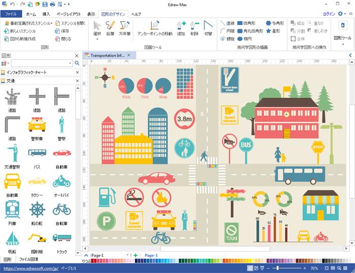 交通インフォグラフィック作成ソフト