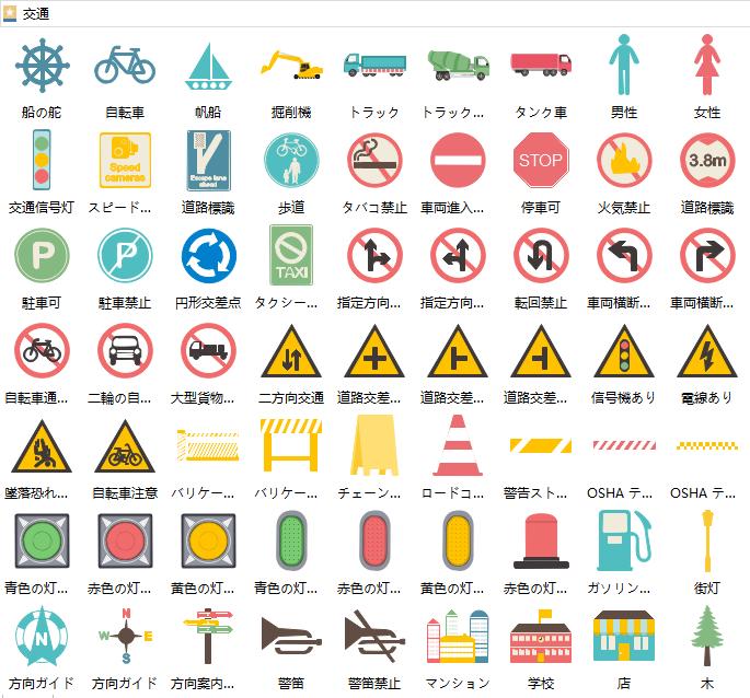 交通インフォグラフィック図形