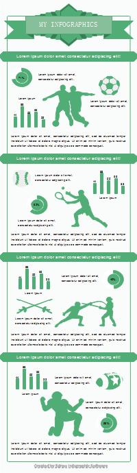 スポーツ比較インフォグラフィック