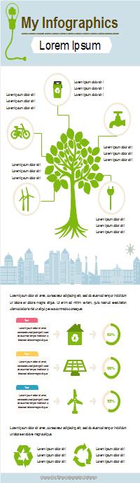 環境保護インフォグラフィック
