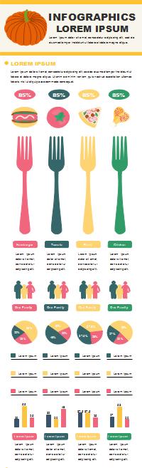 食べ物分析インフォグラフィック