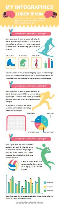 スポーツレポートインフォグラフィック