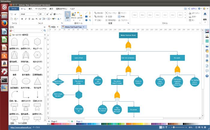 FT図作成ソフト Linux