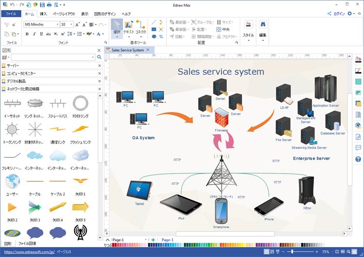 詳細なネットワーク図作成ソフト