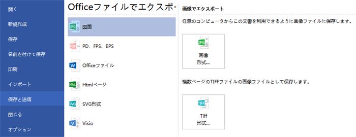 プロジェクト管理図のエクスポート