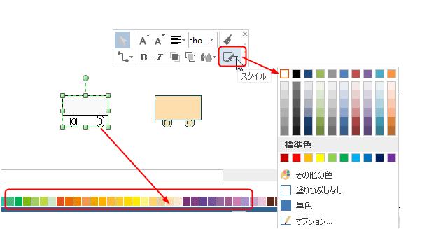 物理図形の色を変更