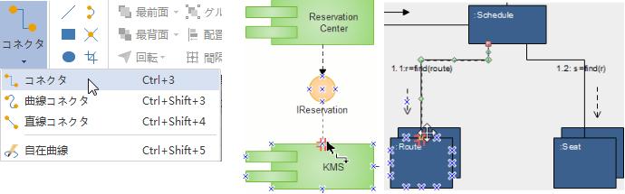 UML 図形の接続