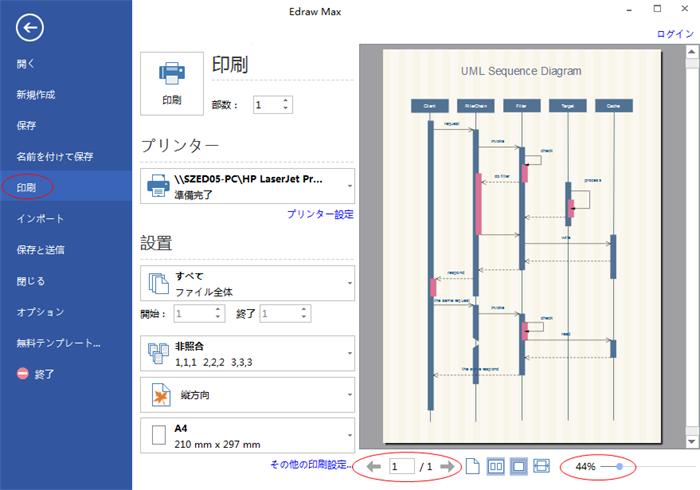 UML 図のプレビュー