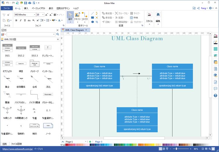 UMLクラス図作成ツール