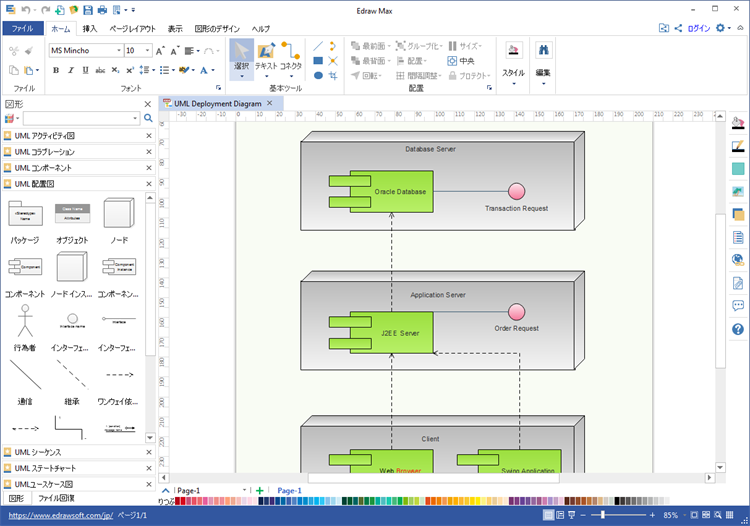 UML配置図作成ソフト