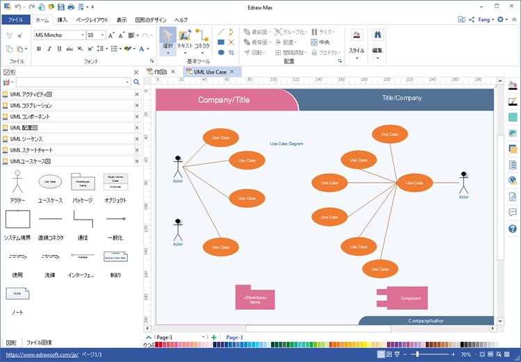 UMLユースケース図ツール