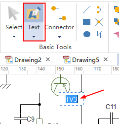 Add Text to Electrical Diagram