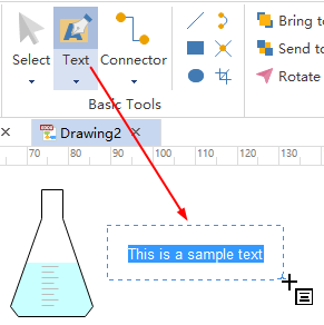Add Text on Science Diagram