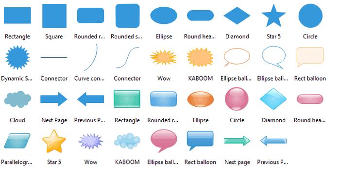 Concept Map Shapes