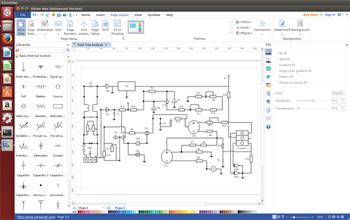 electrical diagram software for linux rh edrawsoft com linux electrical schematic drawing Electrical Schematic Symbols