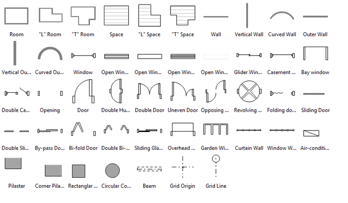 Floor Plan Windows Structure Symbols