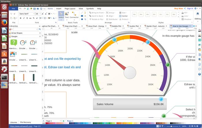 Gauges Chart Software for Linux
