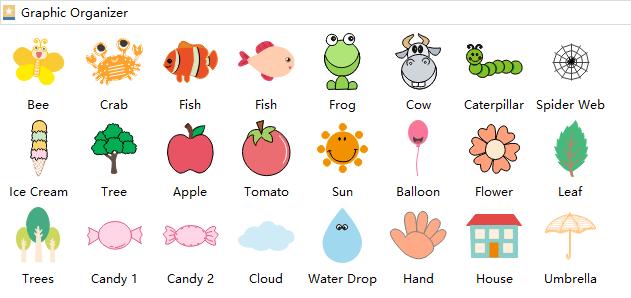 Graphic organizer symbole