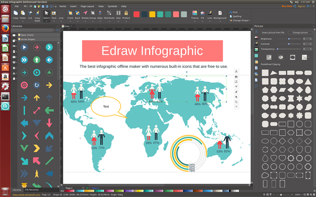 Infographics Software for Linux