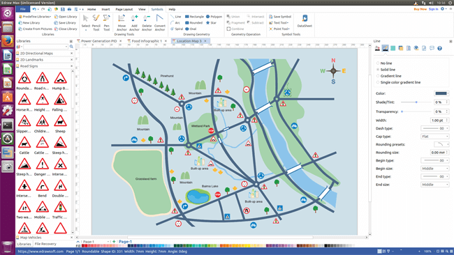 Linux map software make different maps in minutes for Building mapping software