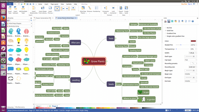 Mind Map Linux Brainstorm with Mind Map Software for Linux