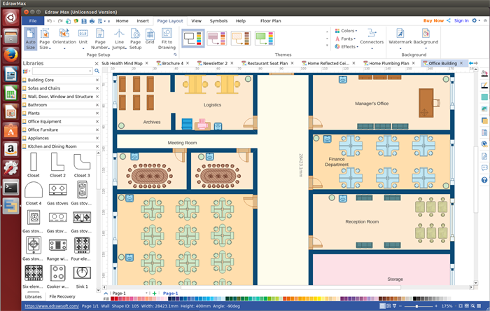 Office layout software for linux make office planning simply for Office layout software