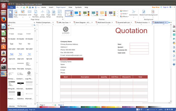 Quotation Form Software for Linux