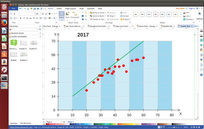 Scatter Chart Software for Linux